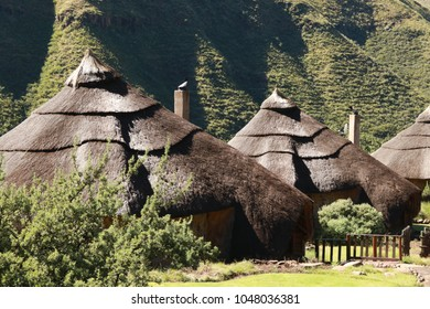 African lodges in Lesotho.