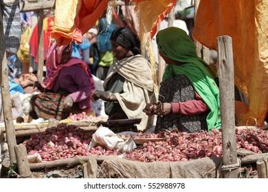 The African market of Debark in Ethiopia, 14. November 2012
