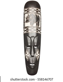 African mask made of wood