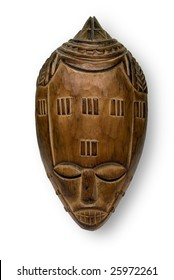 African Mask, white background