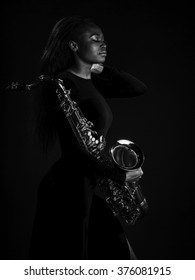 African Sax Lady