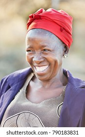 African senior citizen woman in her 70 with a happy face