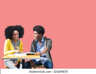 African Students Studying Learning Education