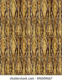 African style Art Deco golden orange pattern