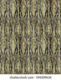 African style Art Deco greenish pattern