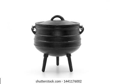 An African Three Legged Black Pot