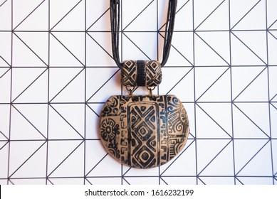 African tribal Jewelry. Handmade boho necklace.
