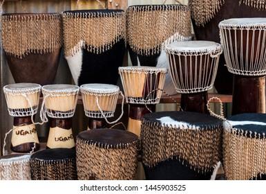 African Uganda Djembe (Drums) - Souvenir