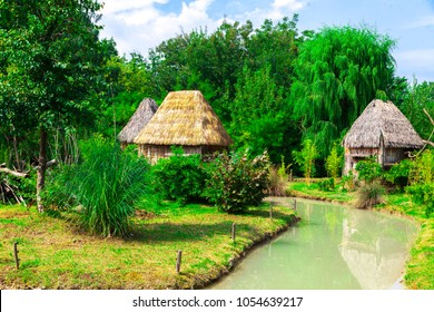 African village of the Zulu tribe.