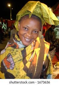 an african woman posing