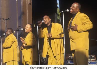 African-American gospel choir performing at Washington National Monument, Washington D.C.
