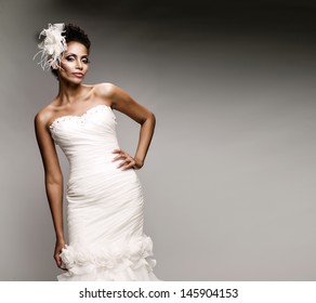 African-American woman in a dress