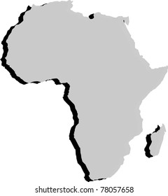 Africa's grey map