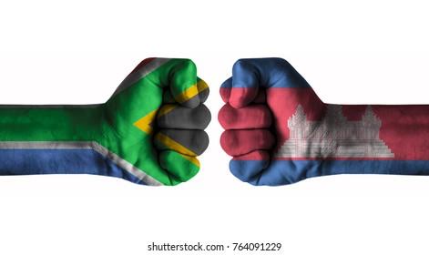 Afrique du Sud  vs cambodia