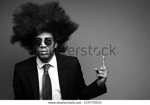 Afro man Black and White Edition