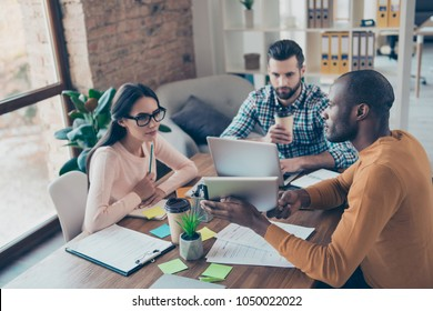 Afro share partners colleagues person conference gathering prosperity briefing instruction chat partnership executive communication consult research report explain. Three friends cowork negotiate