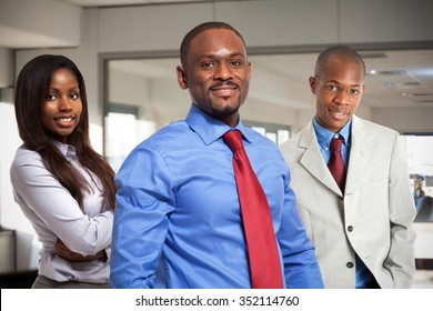Afro-american business people in their office