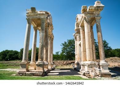 Afrodisias Ancient city.  (Aphrodisias). The common name of many ancient cities dedicated to the goddess Aphrodite. The most famous of cities called Aphrodisias. Karacasu - Aydın, TURKEY