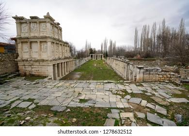 Afrodisias Ancient city.  (Aphrodisias) was named after Aphrodite, the Greek goddess of love. Karacasu - Aydın, TURKEY