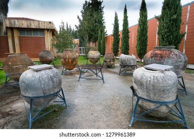 Afrodisias Ancient city.  Roman antique pottery from Aphrodisias Ancient City in Caria,. Karacasu - Aydın, TURKEY