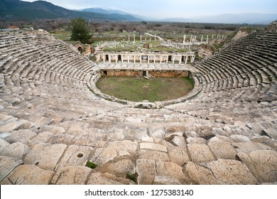 Afrodisias Ancient Theatre.  (Aphrodisias) was named after Aphrodite, the Greek goddess of love. Karacasu - Aydın, TURKEY