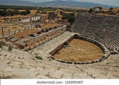 Afrodisias Ancient Theatre, Aydın, Turkey.