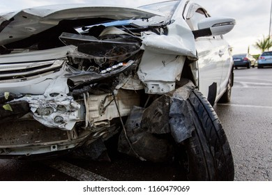after accident car