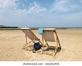 After the European heatwave of 25th of Juli 2019, rest returns to Blankenberge on the Belgian coast. Time to continue to enjoy a sunny vacation in a nice set of garden/beach chairs while on holiday.