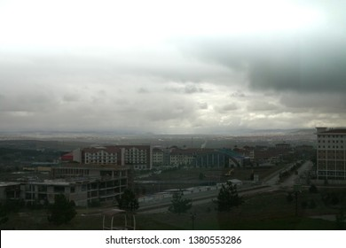 After the heavy rain, general Kütahya view from Kütahya Dumlupınar University Kütahya 25.04.2019