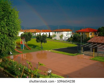 After heavy rain, sometimes come out of the ble the rainbow