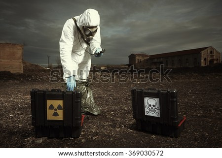 After radiation fallout soldier