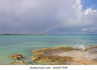 After the rain - Cuba, 2018. A rainbow appears over a Camaguey beach in one of the areas hardest hit by Hurricane Irma months before.