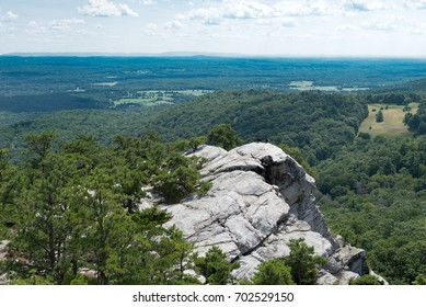"After a short climb up a rock scramble, enjoy the ""Million Dollar View of the Catskills"", on the Bonticou Crag at the Mohonk Preserve in Upstate New York."