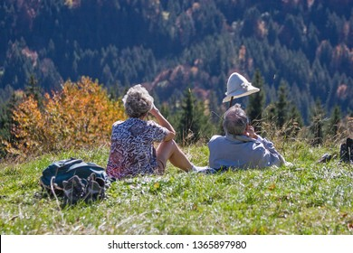 After a strenuous climb you can enjoy a rest on the mountain meadow - Shutterstock ID 1365897980