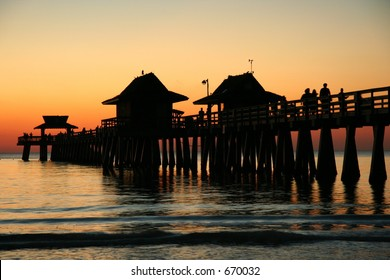 After sunset at naples pier