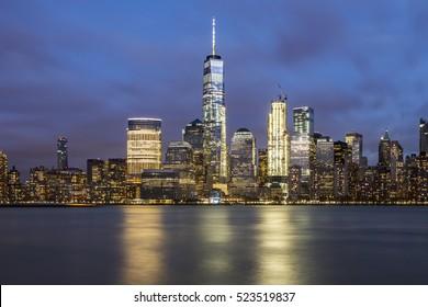 After sunset view at New York City, Manhattan