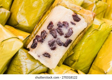 After Thailand, Suman black bean filling.