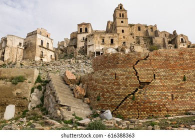 Aftermath of an Earthquake in Italian Ghost Town Craco