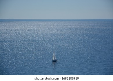 Afternoon beautiful sea with sailing boat