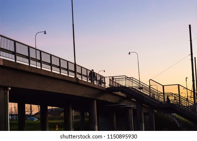 Afternoon evening at the bridge