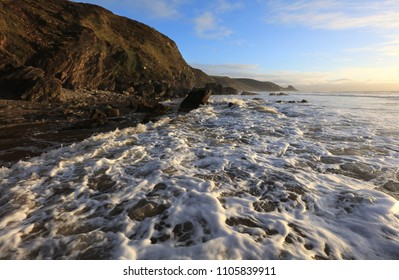 Afternoon Light on the Incoming Tide at Newgale, Pembrokeshire, Wales