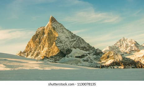 Afternoon light over the Matterhorn