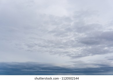Afternoon overcast sky, full of gray color.