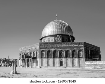 The afternoon sun shines on the golden Dome of the al Aqsa Mosque in Jerusalem