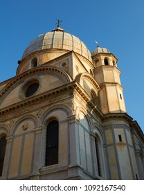 Afternoon sunlight illuminates the Chiesa di Santa Maria dei Miracoli, Venice, Italy