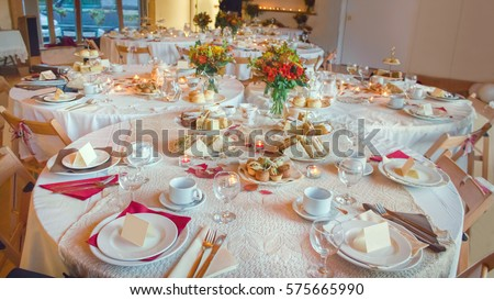 Afternoon Tea Service Traditional English Luxury Stock Photo Edit