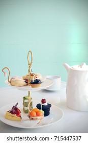 Afternoon tea set, tea set with dessert