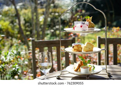 Afternoon tea in a terrace