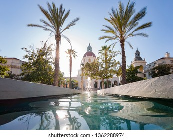Afternoon view of The beautiful Pasadena City Hall at Los Angeles, California, United States