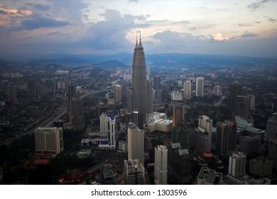 afternoon view of Kuala Lumpur